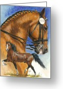 Gaited  Horse Greeting Cards - Hackney Greeting Card by Barbara Keith