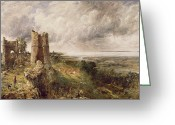 Rain Cloud Greeting Cards - Hadleigh Castle Greeting Card by John Constable