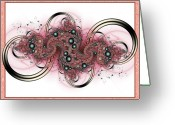 Hippie Art Greeting Cards - Hadron Collider Greeting Card by David April