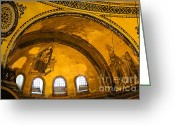 Aya Sofya Greeting Cards - Hagia Sophia Architectural Details Greeting Card by Artur Bogacki