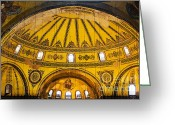 Aya Sofya Greeting Cards - Hagia Sophia Architecture Greeting Card by Artur Bogacki