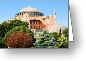Aya Sofya Greeting Cards - Hagia Sophia Greeting Card by Artur Bogacki