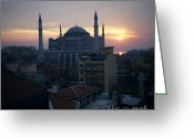 Byzantine Greeting Cards - Hagia Sophia Greeting Card by Dean Robinson