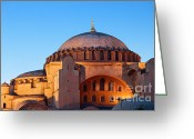 Aya Sofya Greeting Cards - Hagia Sophia in Istanbul Greeting Card by Artur Bogacki