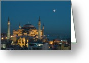 Europe Greeting Cards - Hagia Sophia Museum Greeting Card by Ayhan Altun
