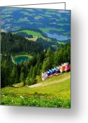 March Greeting Cards - Hahnenkamm - Kitzbuehel Greeting Card by Juergen Weiss