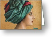 Turban Greeting Cards - Hai Greeting Card by Jose Luis Munoz Luque