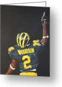Football Painting Greeting Cards - Hail Yes Greeting Card by Travis Day