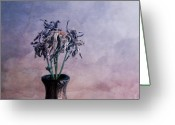 Flower Still Life Prints Greeting Cards - Hair In The Clouds Greeting Card by Aimelle