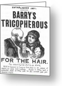Barry Greeting Cards - Hair Restorative, 1887 Greeting Card by Granger