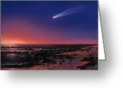 Hale-bopp Greeting Cards - Hale-bopp Comet Greeting Card by Chris Butler
