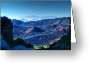 Island Photos Greeting Cards - Haleakala Crater 1 Greeting Card by Ken Smith