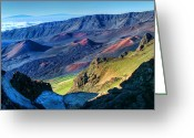 Island Photos Greeting Cards - Haleakala Crater 2 Greeting Card by Ken Smith