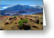 Island Photos Greeting Cards - Haleakala Crater 3 Greeting Card by Ken Smith