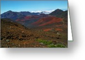Island Photos Greeting Cards - Haleakala Crater 5 Greeting Card by Ken Smith
