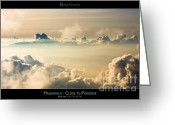 Sunset Posters Photo Greeting Cards - Haleakala Sunset - Close to Paradise - Maui Hawaii Posters Series Greeting Card by Denis Dore