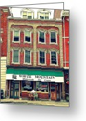 Downtown Kingston Greeting Cards - Half and Half Greeting Card by Valentino Visentini