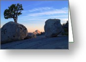 Photography Pyrography Greeting Cards - Half Dome at Olmsted Point - Yosemite Greeting Card by Mark Wilburn