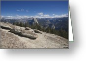 Sentinel Greeting Cards - Half Dome from Sentinel Dome Greeting Card by Chris Brewington