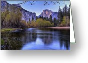 Dome Greeting Cards - Half Dome Near Sunset Greeting Card by Jim Dohms
