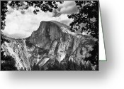 Award Greeting Cards - Half Dome Greeting Card by Sue Taylor