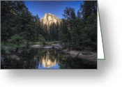 Reno Gregory Greeting Cards - Half Dome Sunset Greeting Card by Reno Gregory