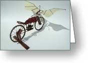 Wings Sculpture Greeting Cards - Half Light Greeting Card by Jim Casey