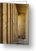 Hall Greeting Cards - Hall of the Pharaoh Greeting Card by Mary Machare