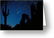 Cacti Greeting Cards - Halleys Comet Greeting Card by Frank Zullo