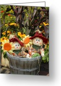 Autumn Photographs Greeting Cards - Halloween 84 Greeting Card by Joyce StJames