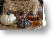 Straw Framed Prints Greeting Cards - Halloween 85 Greeting Card by Joyce StJames