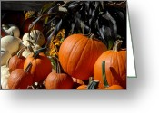Straw Framed Prints Greeting Cards - Halloween 88 Greeting Card by Joyce StJames