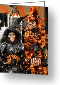 Straw Framed Prints Greeting Cards - Halloween 93 Greeting Card by Joyce StJames