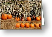 Straw Framed Prints Greeting Cards - Halloween 98 Greeting Card by Joyce StJames