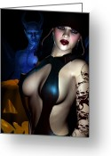 Kinky Greeting Cards - Halloween Greeting Card by Alexander Butler