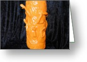 One Of A Kind Ceramics Greeting Cards - Halloween Arms Greeting Card by John Johnson