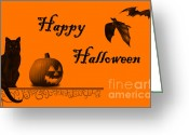 Kid Photo Greeting Cards - Halloween Greeting Card by Darren Fisher