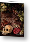 Ghastly Greeting Cards - Halloween Still Life Greeting Card by Joan  Minchak