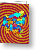Psyche Photo Greeting Cards - Hallucinogenic Drugs, Conceptual Image Greeting Card by Stephen Wood
