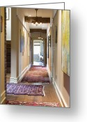 Wood Floors Greeting Cards - Hallway Greeting Card by Andersen Ross