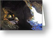 Cavern Greeting Cards - Hallway at Rock House 2 Greeting Card by Peter  McIntosh