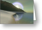 Heaven Digital Art Greeting Cards - Halo Greeting Card by Corey Ford