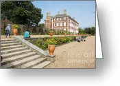 Garden Pots Greeting Cards - Ham House - Gardens Greeting Card by Donald Davis