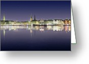 Hamburg Greeting Cards - Hamburg Alster Greeting Card by Marc Huebner