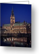 Hall Greeting Cards - Hamburg city hall Greeting Card by Benjamin Matthijs