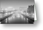 Hamburg Greeting Cards - Hamburg Hammerbrook Greeting Card by Marc Huebner