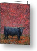Bull Greeting Cards - Hamburger Sky Greeting Card by James W Johnson