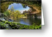 Cave Photo Greeting Cards - Hamilton Pool Greeting Card by Lisa  Spencer