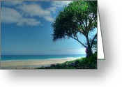 Island Photos Greeting Cards - Hanakapiai Beach 1 Greeting Card by Ken Smith