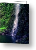 Na Pali Coast Kauai Greeting Cards - Hanakoa Falls  Greeting Card by Kevin Smith
